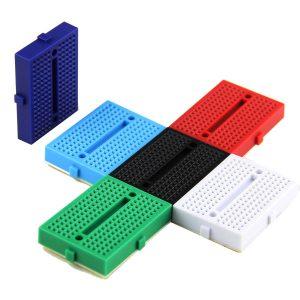 迷你 170孔 麵包板 arduino實驗平台 迷你麵包板
