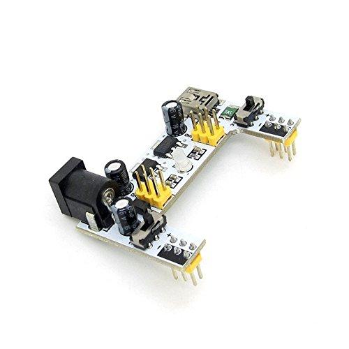 麵包板電源模組 兩路獨立控制 兼容5V、3.3V