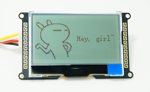 I2C_LCD (With universal Grove cable) 圖形文字顯示模組