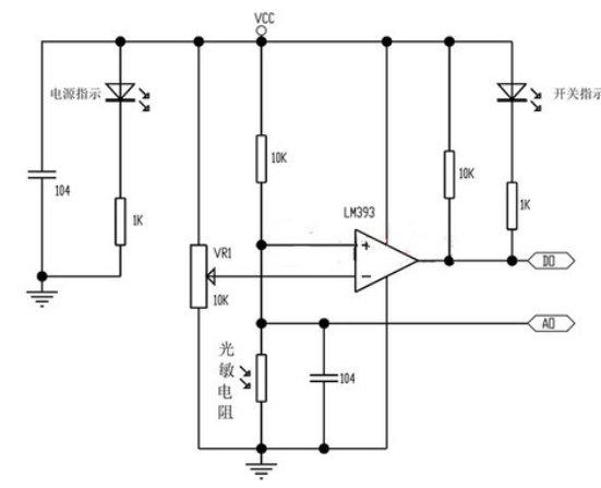 光敏電阻感測器模組