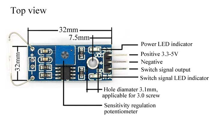 磁簧管電磁開關檢測感測器模組