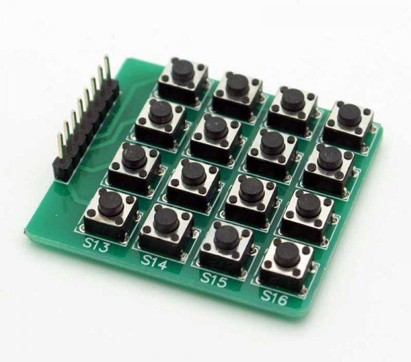 4X4微動開關鍵盤