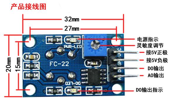 MQ-7 一氧化碳感測器
