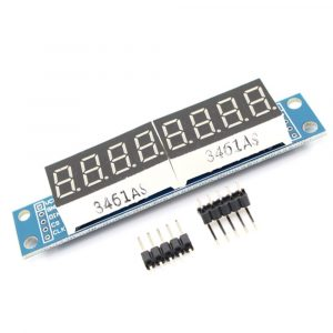 MAX7219 8位 LED 數碼管顯示模組 可多模組串接級聯 SPI控制 Arduino