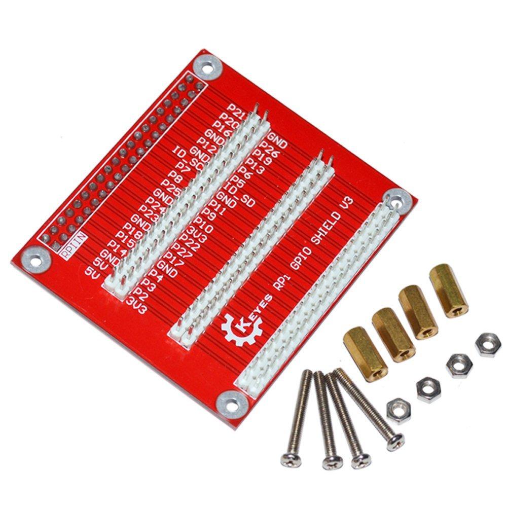 樹莓派 3代 B+ 專用 GPIO Shield 擴展板 V3 可堆疊