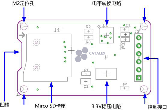 Arduino 專用 Micro SD卡讀寫模組