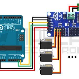 conexion PCA9685 y Arduinio