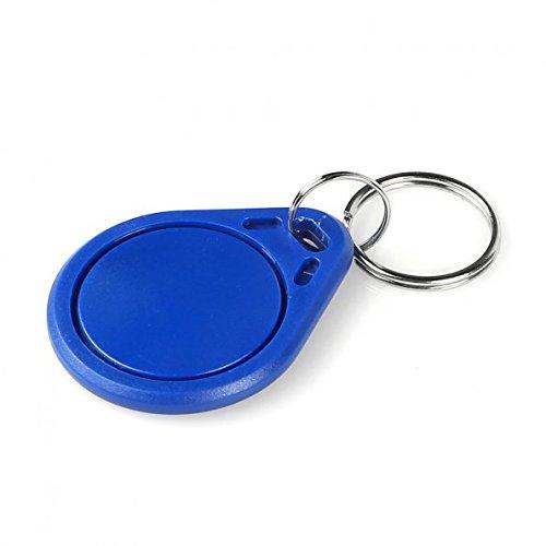 RFID 13.56MHz RC522 鑰匙扣卡 相容 Philip Mifare S50 非接觸式 (10個一組)  由ABS外殼封裝芯片線圈並填充環氧樹脂,通過超聲波焊接組合的具有各種造型的異形卡。應用範圍:水錶預付費,校園一卡通、公交儲值卡、高速公路收費、停車場、小區管理  IC鑰匙扣卡頻率: 13.56MHZ IC鑰匙扣卡規格: 28*35.3*4MM IC鑰匙