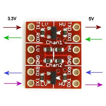 T74 Logic Level Converter邏輯電平轉換3.3V 5V TT