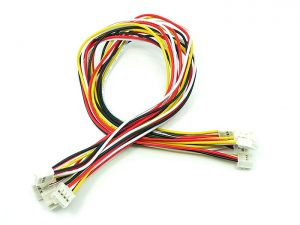 Grove - Universal 4 Pin Buckled 30公分 cable 模組連接線 (5 條包裝)