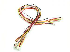 Grove - Universal 4 Pin Buckled 50公分 模組連接線 (5 條包裝)