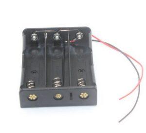 18650 電池盒 3槽並聯 3.7V 帶電源線