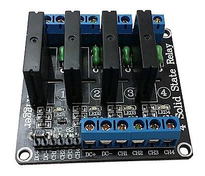 4路 5V 高電平固態繼電器模組 帶保險絲 SSR 固態繼電器