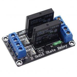 2 路 5V 低電平固態繼電器模組 帶保險絲 SSR 固態繼電器