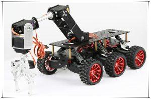 6輪傳動越野車 含機械手臂 搜救載重平台機械車底盤套件