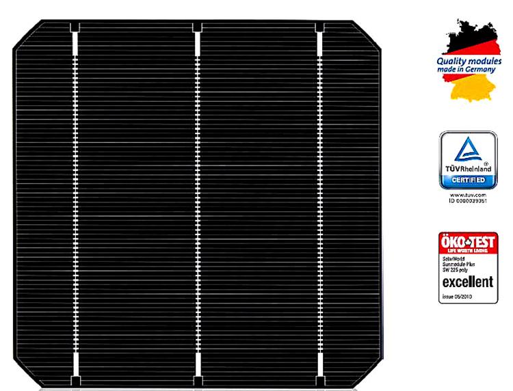 10W 單晶太陽能電池板