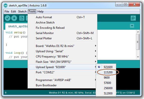 Configuring COM Port