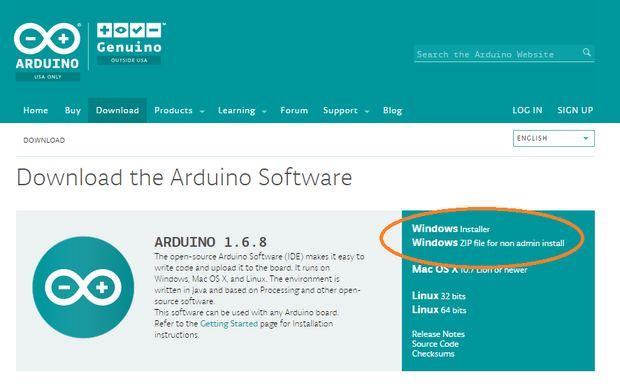 Installing Arduino Software/IDE