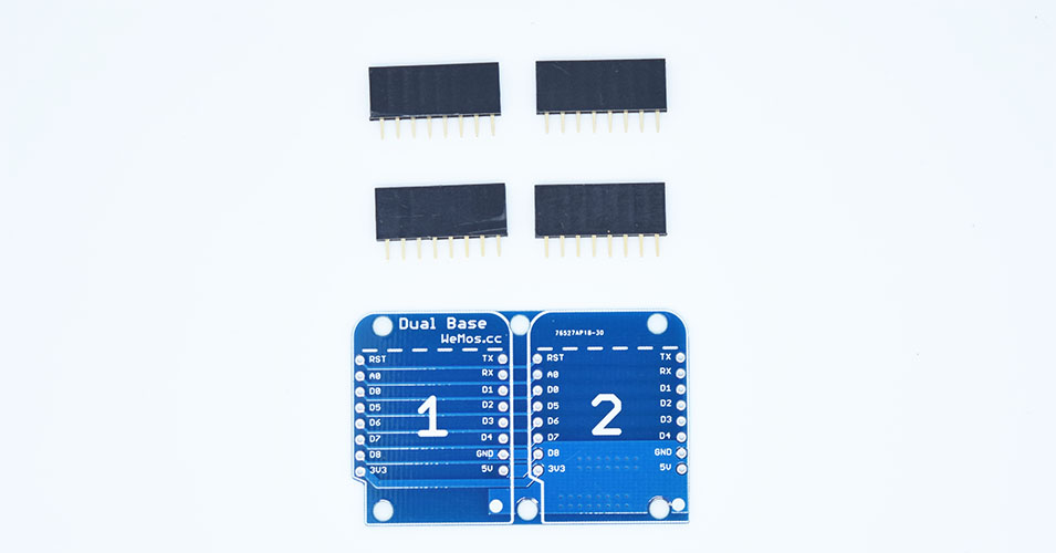 Dual Base for wemos mini D1 pro 擴展底板