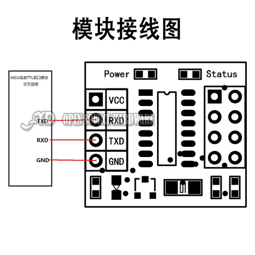 51-microcontroller-TTL-serial-to-wireless-communication-module-nRF2401-nRF24L01-adapter-board-does-not-contain-nRF