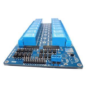 16路 5V 繼電器控制板 帶光耦保護 帶LM2576電源 低電平觸發