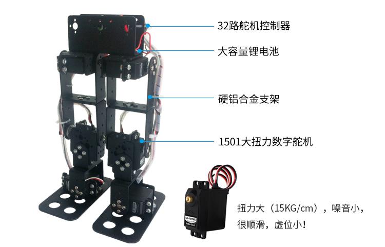 6自由度雙足機器人