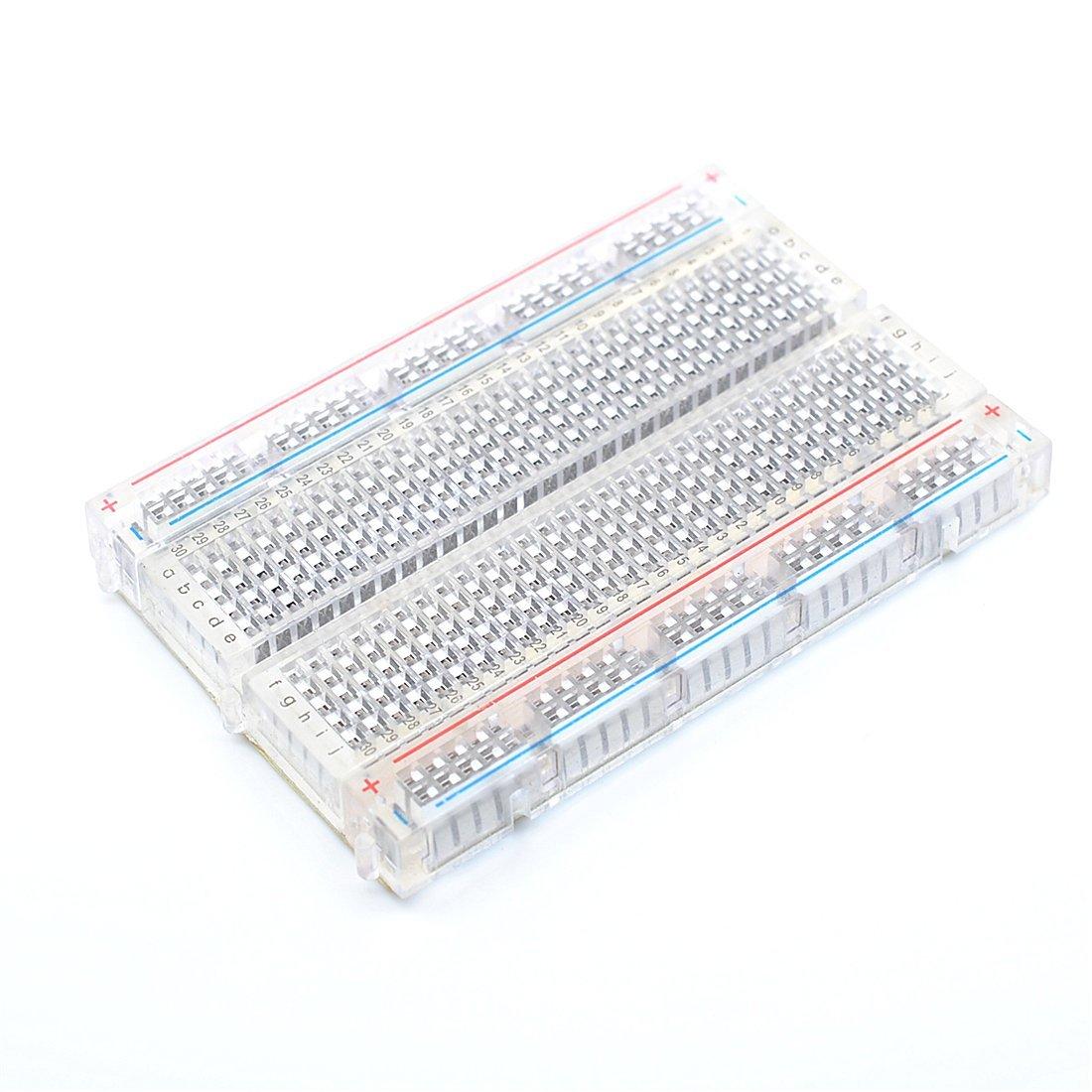 Arduino 400孔 透明麵包板 小麵包板 83x55mm