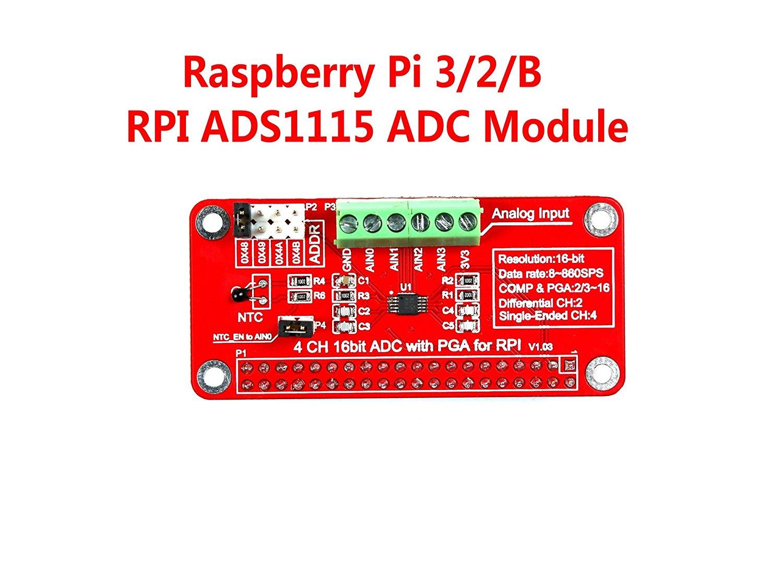 Raspberry Pi ADS1115 ADC 模組 支援 PI 3/2/B RPI