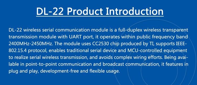 Inproved 2.4G zigbee wireless serial communication module CC2530 DL-22