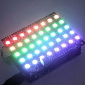 WS2812B 5050 RGB LED 內置全彩驅動彩燈擴展板
