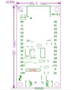 NodeMcu Lua WIFI V3 物聯網 開發板