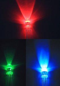 5mm RGB 全彩共陽 LED