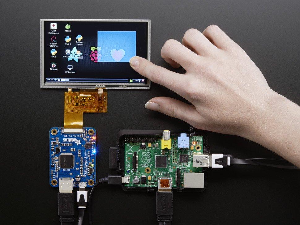 TFP401 HDMI / DVI解碼器至40針TTL突破 - 帶觸摸功能