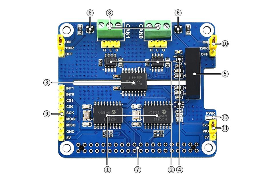 樹莓派雙通道CAN總線擴展板資源簡介